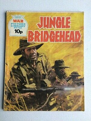 War Picture Library, (jungle Bridgehead), No.1194, From Fleetway Library, 1976. • 2.80£