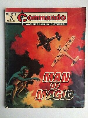 Commando, War Stories In Pictures, (man Of Magic), No.1014, From 1976. • 2.80£