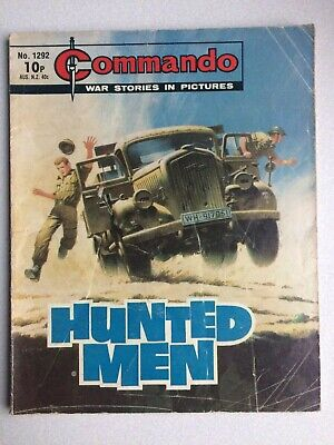 Commando, War Stories In Pictures, (hunted Men), No.1292, From 1979. • 2.80£