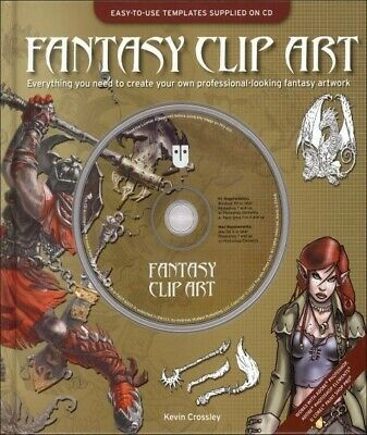 Fantasy Clip Art With Dvd Brand New • 1.99£