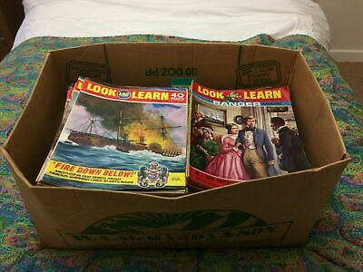 Look And Learn Magazines, 259 Vintage Issues 1967 - 1973, Very Good Condition • 220£