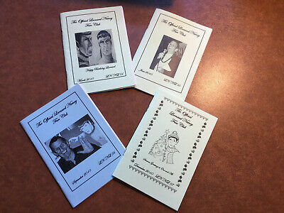 The Official Leonard Nimoy Fan Club Newsletter's Issues 54-57 • 2£