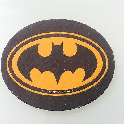 Batman Bat Sign Beer Mat DC Comics 1989 Tim Burton Promo • 9£