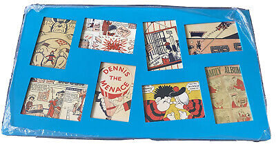 "Framed Collection Of 8 Beano Postcards 24"" X 13.5"" • 15.99£"