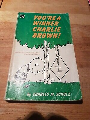 Vintage Paperback Book By Charles M Schulz 'You're A Winner Charlie Brown ' • 2.50£