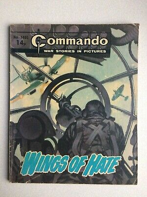 Commando, War Stories In Pictures, (wings Of Hate), No.1465, From 1980. • 3.55£