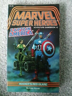Marvel Adventure Game Book Captain America Rocket's Red Glare (1986) Kate Novak • 20£
