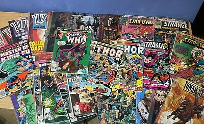 Lot Of Vintage Comics Inc Masters Kung Fu, Thor, Doctor Who, 2000 AD +++ • 19.99£