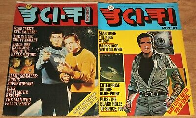 Tv Sci-fi Monthly Poster Magazine #3, #4, Star Trek, Dr. Who, Space: 1999 • 8.99£