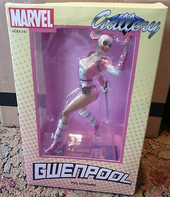 Marvel Gwenpool Diamond Select Gallery PVC Figure -Damaged Box Been On Display- • 17£