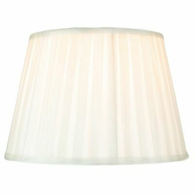 Traditional Classic Cream Faux Silk Pleated Inner Lined Lamp Shade - 14  By H... • 27.50£