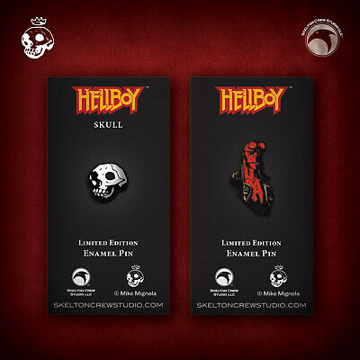 Hellboy/B.P.R.D.: Limited Edition Hellboy And Skull Enamel Pin Set! • 17.88£