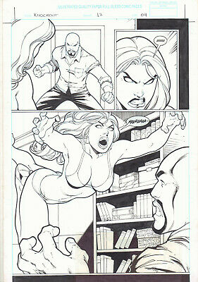 Codename: Knockout #17 P.4 - Babe Action Splash - 2002 Art By Ed Benes • 255.93£