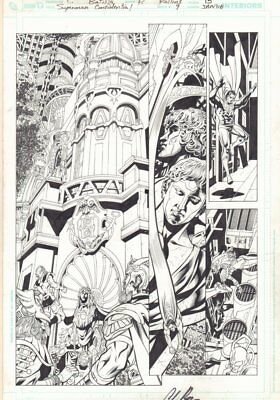Superman Confidential #9 P.15 - Awesome New Gods - 2008 Art By Chris Batista • 239.23£