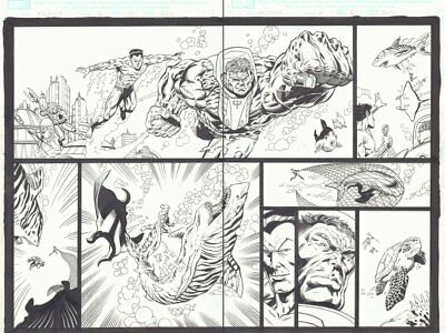 Marvel Adventures Hulk #6 P20&21 DPS Namor The Sub-Mariner Art By Mario Gully • 219.63£