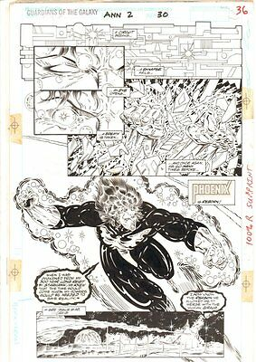 Guardians Of The Galaxy Annual #2 P.36 Phoenix Force Giraud 1992 By Herb Trimpe • 220.52£