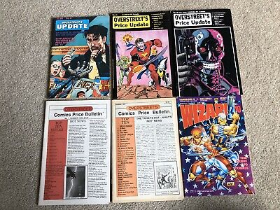 Overstreet Update & Wizard Comic Book Price Guide Lot 6 Total 1985-1992 • 3.96£