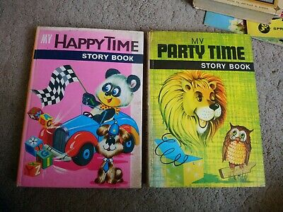 1970s Treasure Hour Story Books My Happy Time And My Party Time Collector's • 5.99£