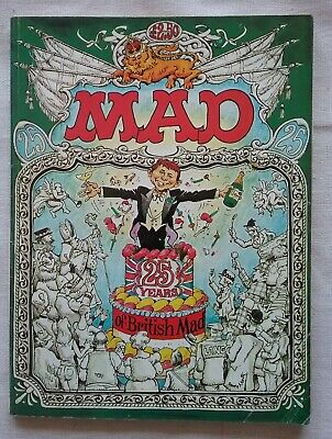 MAD: 25 Years Of British MAD, Edited By Dave Robinson. 1984 Cardcover • 5.77£