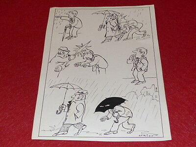 [Comics Drawing Humor Press] Metal / Board Original Comics Signed Ca1960 33x24 • 37.38£
