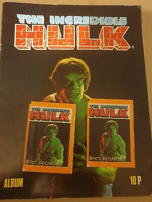The Incredible Hulk FKS Unused  Sticker Album And 2 X Packs 1979 • 19.99£