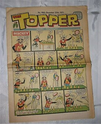 Topper Comic – No. 986 – December 25th 1971 • 6.99£