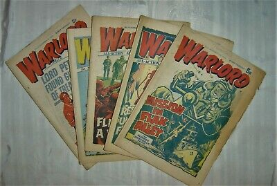 Warlord Comic – 5 Early Issues • 9.99£