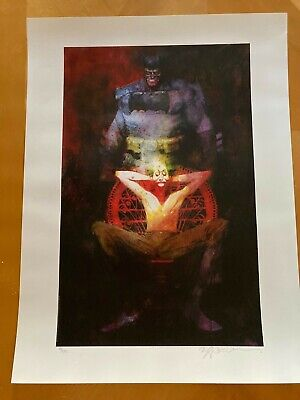 Bill Sienkiewicz The Last Crusade Batman Signed / Numbered Lithograph Sideshow • 71.52£