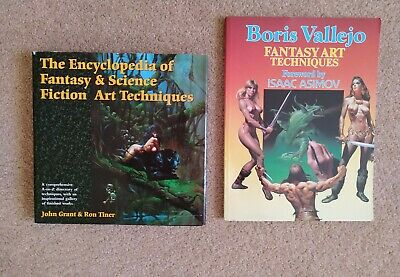 Drawing & Sketching - 2 BOOKS - Science Fiction And Fantasy Art Techniques • 6.75£