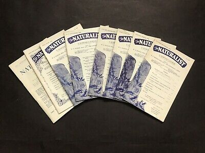 8 X VINTAGE ISSUES OF THE NATURALIST 1958-65 Good Condition Great Nostalgia • 5£