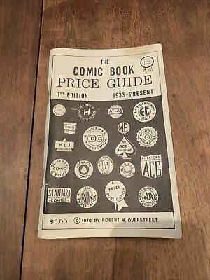 Overstreet The Comic Book Price Guide 1st Edition 1970 Paperback Book Wow! • 429.15£