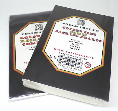 100 Docsmagic.de Golden Size Resealable Comic Bags + Backing Boards - Combo Pack • 15.95£