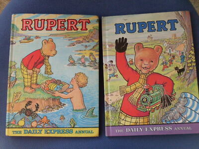 Vintage Rupert Annuals, ( 2 ) 1976 . Unclipped, Vgc + Other 1975. • 3.99£