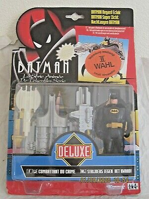 Batman Kenner 1994 Animated Series, The Power Vision Batman Deluxe 12cm • 18.99£