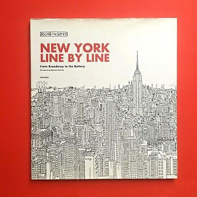 New York Line By Line Robinson Illustration Cartoon NYC Cityscapes 60s Modernist • 12.99£