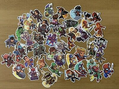 MIxed Sticker Pack - 10 Stickers - Marvel Cartoons Free Shipping  • 2.49£