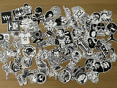 MIxed Sticker Pack - 10 Stickers - Black And White Theme Free Shipping  • 2.49£