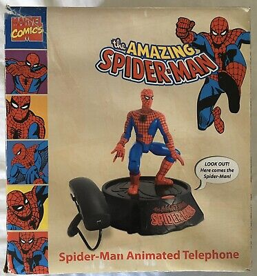 SPIDER-MAN ANIMATED TELEPHONE With Sound Effects From 2007 • 31.49£