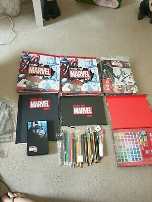 Hachette Partworks Draw The Marvel Way 1-31 Magazines + 2 Binders Lots Of Extras • 75£