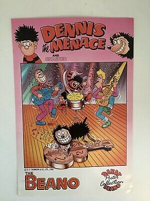 Beano Poster Collection Dennis The Menace And Gnasher 1988 • 20£