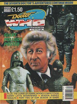 Doctor Who Magazine No 160 May 1990 Sylvester McCoy Daleks Cybermen + Poster  • 2.50£