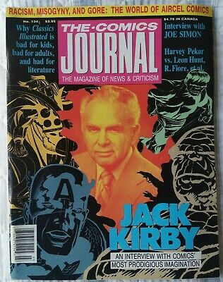 THE COMICS JOURNAL #134 50 Page Jack Kirby Interview, 1990. • 16.99£