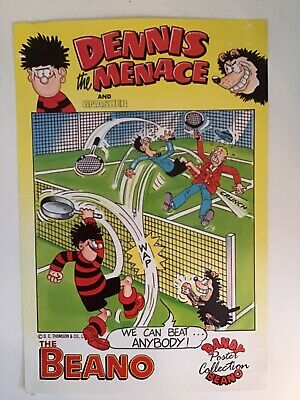 Beano Poster Collection  Dennis The Menace And Gnasher 1988 • 16£
