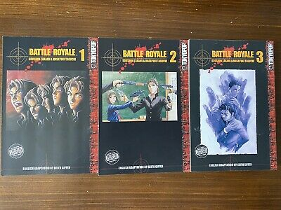 Battle Royale Tokyopop Manga Volume 1-3 • 7.50£