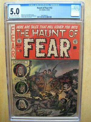 The Haunt Of Fear #13 CGC 5.0 E.C. Comics Pre Code Golden Age Horror Sci Fi 1952 • 488.75£