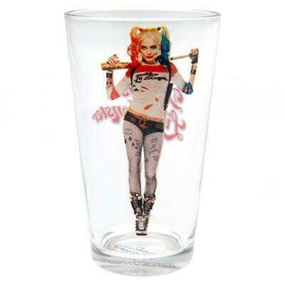 Official Licensed Suicide Squad Large Glass Harley Quinn • 6.99£
