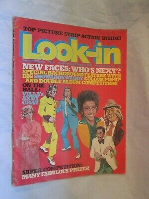 Vintage Look-in Magazine 1976 New Faces Showaddywaddy Space 1999 Cartoon • 7.99£