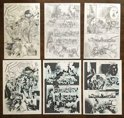 The AMAZING SPIDER-MAN # 848/47 Pg 13 14 & 15 ORIGINAL ART Vs SIN EATER 6 PAGES • 637.68£