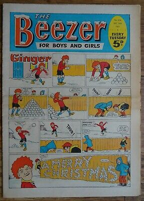 BEEZER COMIC CHRISTMAS EDITION 1967. XMAS. #624 DECEMBER 30th 1967 • 60£