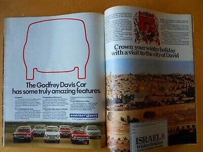 The Sunday Times Magazine Dated  November 19th 1972 Car Adverts • 12.45£